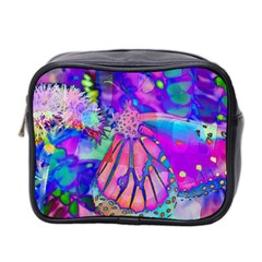Psychedelic Butterfly Mini Toiletries Bag 2 Side by MichaelMoriartyPhotography