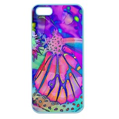 Psychedelic Butterfly Apple Seamless Iphone 5 Case (color) by MichaelMoriartyPhotography
