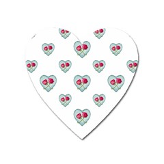 Love Ornate Motif Print Heart Magnet by dflcprints