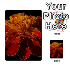 Marigold On Black Multi-purpose Cards (rectangle)  by MichaelMoriartyPhotography