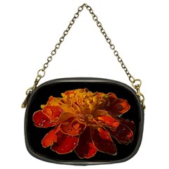 Marigold On Black Chain Purses (one Side)