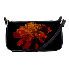 Marigold On Black Shoulder Clutch Bags by MichaelMoriartyPhotography