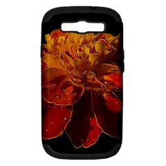 Marigold On Black Samsung Galaxy S Iii Hardshell Case (pc+silicone) by MichaelMoriartyPhotography