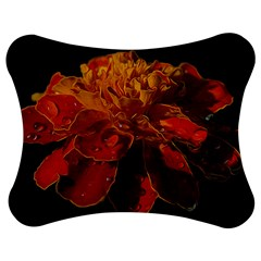 Marigold On Black Jigsaw Puzzle Photo Stand (bow)