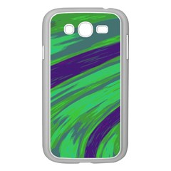 Swish Green Blue Samsung Galaxy Grand Duos I9082 Case (white) by BrightVibesDesign