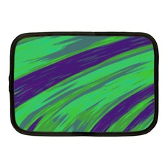 Swish Green Blue Netbook Case (medium)  by BrightVibesDesign