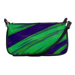 Swish Green Blue Shoulder Clutch Bags by BrightVibesDesign