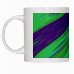 Swish Green Blue White Mugs by BrightVibesDesign