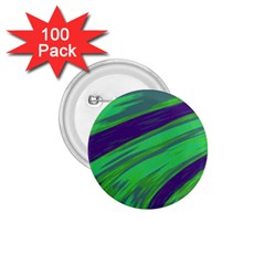 Swish Green Blue 1 75  Buttons (100 Pack)  by BrightVibesDesign