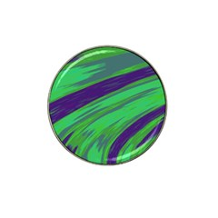 Swish Green Blue Hat Clip Ball Marker by BrightVibesDesign