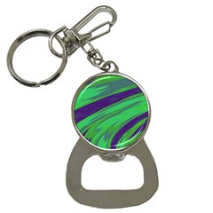 Swish Green Blue Bottle Opener Key Chains by BrightVibesDesign