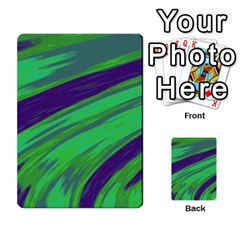 Swish Green Blue Multi Purpose Cards (rectangle)  by BrightVibesDesign