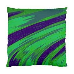 Swish Green Blue Standard Cushion Case (one Side) by BrightVibesDesign