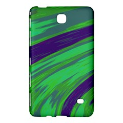 Swish Green Blue Samsung Galaxy Tab 4 (7 ) Hardshell Case  by BrightVibesDesign