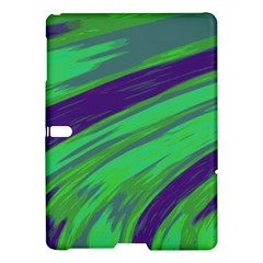 Swish Green Blue Samsung Galaxy Tab S (10 5 ) Hardshell Case  by BrightVibesDesign