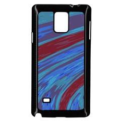 Swish Blue Red Samsung Galaxy Note 4 Case (black) by BrightVibesDesign