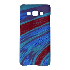Swish Blue Red Samsung Galaxy A5 Hardshell Case  by BrightVibesDesign