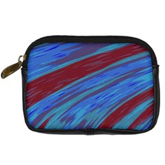 Swish Blue Red Abstract Digital Camera Cases by BrightVibesDesign