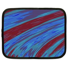 Swish Blue Red Abstract Netbook Case (xl)  by BrightVibesDesign