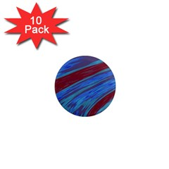 Swish Blue Red Abstract 1  Mini Magnet (10 Pack)  by BrightVibesDesign