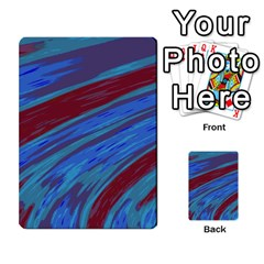 Swish Blue Red Abstract Multi Purpose Cards (rectangle)  by BrightVibesDesign