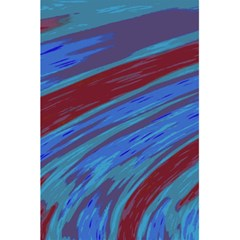 Swish Blue Red Abstract 5 5  X 8 5  Notebooks by BrightVibesDesign
