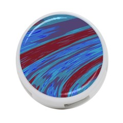 Swish Blue Red Abstract 4 Port Usb Hub (one Side) by BrightVibesDesign