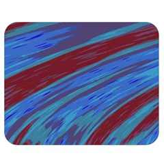 Swish Blue Red Abstract Double Sided Flano Blanket (medium)  by BrightVibesDesign