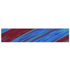 Swish Blue Red Abstract Flano Scarf (small)  by BrightVibesDesign