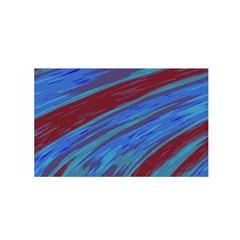 Swish Blue Red Abstract Satin Wrap by BrightVibesDesign