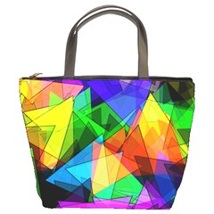 Colorful Triangles                                                                  	bucket Bag by LalyLauraFLM