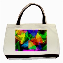 Colorful Triangles                                                                  			basic Tote Bag by LalyLauraFLM