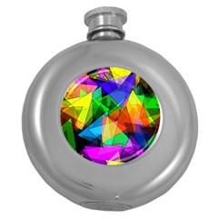 Colorful Triangles                                                                  			hip Flask (5 Oz) by LalyLauraFLM