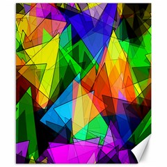 Colorful Triangles                                                                  			canvas 8  X 10  by LalyLauraFLM
