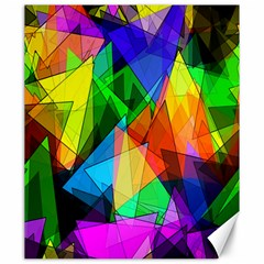 Colorful Triangles                                                                  			canvas 20  X 24  by LalyLauraFLM