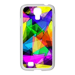 Colorful Triangles                                                                  			samsung Galaxy S4 I9500/ I9505 Case (white) by LalyLauraFLM