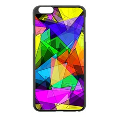 Colorful Triangles                                                                  			apple Iphone 6 Plus/6s Plus Black Enamel Case by LalyLauraFLM