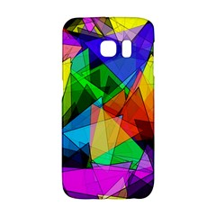 Colorful Triangles                                                                  			samsung Galaxy S6 Edge Hardshell Case by LalyLauraFLM