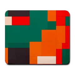 Rectangles And Squares  In Retro Colors                                                                   			large Mousepad by LalyLauraFLM