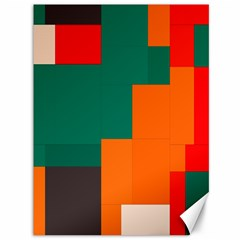 Rectangles And Squares  In Retro Colors                                                                   			canvas 36  X 48  by LalyLauraFLM