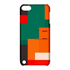 Rectangles And Squares  In Retro Colors                                                                   			apple Ipod Touch 5 Hardshell Case With Stand by LalyLauraFLM