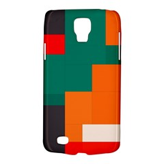 Rectangles And Squares  In Retro Colors                                                                   			samsung Galaxy S4 Active (i9295) Hardshell Case by LalyLauraFLM