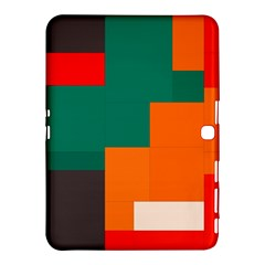 Rectangles And Squares  In Retro Colors                                                                   			samsung Galaxy Tab 4 (10 1 ) Hardshell Case by LalyLauraFLM