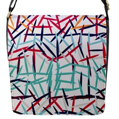 Strokes                                                                    			flap Closure Messenger Bag (s) by LalyLauraFLM