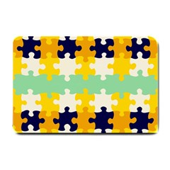Puzzle Pieces                                                                     			small Doormat by LalyLauraFLM