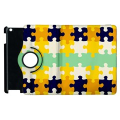 Puzzle Pieces                                                                     			apple Ipad 3/4 Flip 360 Case by LalyLauraFLM