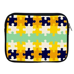 Puzzle Pieces                                                                     			apple Ipad 2/3/4 Zipper Case by LalyLauraFLM