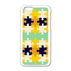 Puzzle Pieces                                                                     			apple Iphone 6/6s White Enamel Case by LalyLauraFLM