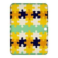 Puzzle Pieces                                                                     			samsung Galaxy Tab 4 (10 1 ) Hardshell Case by LalyLauraFLM