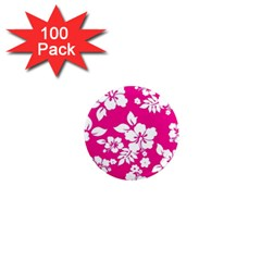 Pink Hawaiian 1  Mini Magnets (100 Pack)  by AlohaStore